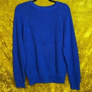 J. Crew Vintage Navy Knit Crew Neck Sweater szL